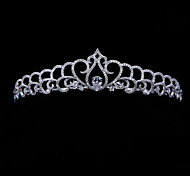 Handmade Pave AAA CZ Tiara Bridal Wedding  Hair Jewelry Accessories Pageant CrownsImitation Diamond Birthstone