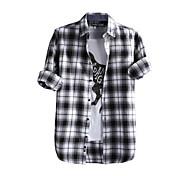 JamesEarl Men's Shirt Collar Long Sleeve Shirt & Blouse Black - DA112049226
