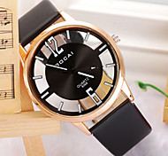 Men's Watch The Simple Double Transparent Digital Quartz Watch