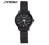 SINOBI® Ladies Fashion Quartz Watches Tungsten Band Water Resistant Women Business Black Watch Wristwatches Reloj Mujer Cool Watches Unique Watches