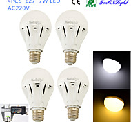 YouOKLight® 4PCS E27 7W 16*SMD5730 600LM White/ Warm White Light LED Energy saving High quality Globe Bulbs (AC 220V)
