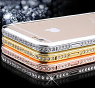 Para Funda iPhone 6 / Funda iPhone 6 Plus Diamantes Sintéticos Funda Acolchada Funda Un Color Dura MetaliPhone 6s Plus/6 Plus / iPhone