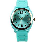 Are Blue Silicone Quartz Ladies Watch