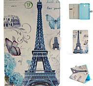 Paris Tower Painted Bracket Tablet PU Case for Galaxy Tab E 9.6 T560/A 9.7 T550/4 10.1 T530/S2 9.7 T815/S 10.5 T800