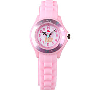 Fashion Ladies Watch Cartoon Pink Silicone Tape