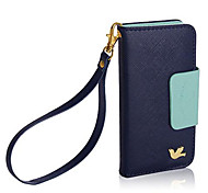 DF® Colorful Little Bird PU Leather Full Body Case with Strap for iPhone 5C