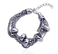 European Style Multilayer Metal Chain  Circular Bracelet