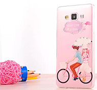 Bike Lover Pattern Luxury Fashion Acrylic soft Case with Diamond for Samsung Galaxy A5000/A7000((Assorted Colors)
