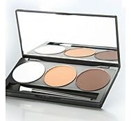 3 Lidschattenpalette Trocken Lidschatten-Palette Puder Normal Alltag Make-up