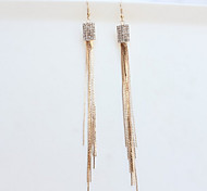 New Arrival Fashional Rhinestone Square Tassel Earrings