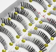 Ресницы Ленточные накладные ресницы Ресницы Перекрещивающиеся реснички Натуральная длина Длиннее на концеРасширенный Поднятие ресниц