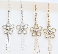 New Arrival Fashional Rhinestone Rose Flower Earrings