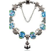 Silver Plated Fashion Glass Bead Bracelet