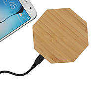 Bamboo Wooden Qi Wireless Charging Pad for Samsung Galaxy S6/S6 Edge