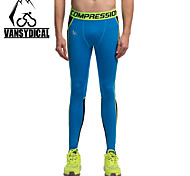 Vansydical Men's Quick Dry Fitness Bottoms Green / Gray / Blue / Orange