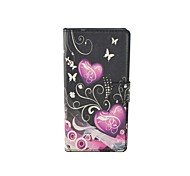 Two love Pattern Flip Leather Case For iPhone 5/5S Cover Bags