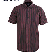 JamesEarl Men's Shirt Collar Short Sleeve Shirt & Blouse Burgundy - M21X5000801