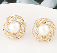 Fashion Personality Temperament Simple Imitation Pearl Earrings