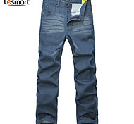 Lesmart Hommes Droite Pantalon Bleu - LW13453