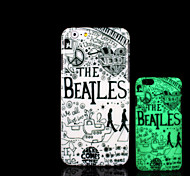 Beatles Pattern Glow in the Dark Hard Plastic Back Cover for iPhone 6 for iPhone 6s Case