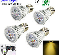 5W E26/E27 LED Spot Lampen A50 5 High Power LED 450 lm Warmes Weiß Dekorativ AC 220-240 / AC 110-130 V 4 Stück