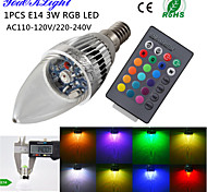 Bombillas Vela Control Remoto / Decorativa YouOKLight C35 E14 3 W 1 LED de Alta Potencia 240 LM RGB AC 100-240 / AC 110-130 V 1 pieza