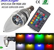 Luces LED en Vela Control Remoto / Decorativa YouOKLight C35 E14 3W 1 LED de Alta Potencia 240 LM RGB AC 100-240 / AC 110-130 V 1 pieza