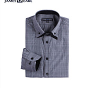 JamesEarl Men's Shirt Collar Long Sleeve Shirt & Blouse Black - DA112046126