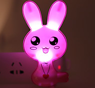 Energy-saving LED Cartoon Rabbit Light-Operated Mode Night Light Lamp