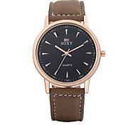 pele masculina momento autêntico relógio com um relógio de homens de negócios à prova d'água Relógio de ouro caso relógio de quartzo 2 cor