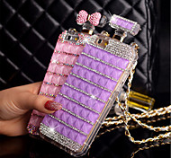 Per Custodia iPhone 5 Con diamantini Custodia Custodia posteriore Custodia Cartone 3D Resistente PC iPhone SE/5s/5
