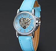 Women's Heart Design  Mechanical Watch WINNER Self-Wind Skeleton Hollow Casual  Wrist watches Cool Watches Unique Watches