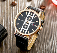 SOXY® Best Selling Precise Business Black Plate Black Leather Strap Watch Classic Design Quartz Watch for Men Cool Watch Unique Watch