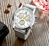 SOXY® High Quality Precise Business White Plate Silver Steel Strape Watch with Exquisite Quartz Watch for Men