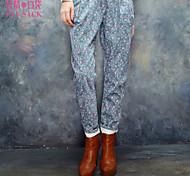 ELFSACK Femme Taille Normale Skinny Bleu / Rose Pour tous les jours Pantalon - 1348048
