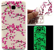 For Samsung Galaxy Case Glow in the Dark / Pattern Case Back Cover Case Flower TPU Samsung On 7 / On 5