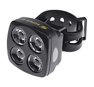 USB Rechargeable Ultra-Bright 60lm 4-LED 5-Mode Bike Safety Light (Assorted Colors)
