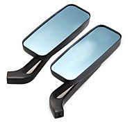 Universal Aluminum Motorcycle Rectangle Cruiser Rear View Mirrors 8mm 10mm Black