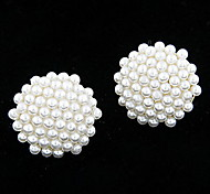 Sweety Pearl Round Pattern Earrings