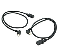 CY® USB 2.0 Left and Right Angled Male USB Cable 0.5M(2 pcs)