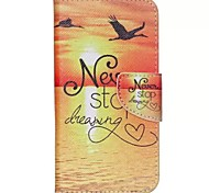 Sunrise Painted PU Phone Case for Wiko Rainbow Jam 4G