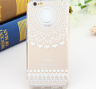 Black and White Style Flower 2-Times Printed TPU Soft Back Cover for iPhone 6/6S
