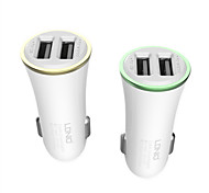 LDNIO 2 Dual USB Car Charger for iPhone/Samsung and Other Cellphone(5V 3.4A)