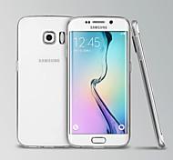 modelos de teléfono invisibles transparentes cubierta de silicona para samsung galaxy borde s6