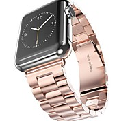 Rose Gold Stainless Steel Watch Strap For Apple Watch Band Adapter Metal Connector For iWatch 42mm