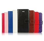Crazy Horse зерна и окна роскошь PU кожаный бумажник чехол с подставкой для iPhone 5 / 5s (ассорти цветов)
