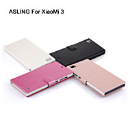 ASLING Protective Flip-Open PU Leather Case Full Body Credit Card Holder Slots Luxury Cell Phone Bag For Xiaomi 3