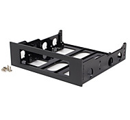 3.5-Inch to 5.25-Inch Floppy Mounting Kit Bracket (Black Plastic)