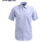 JamesEarl Men's Shirt Collar Short Sleeve Shirt & Blouse Blue - M21X5000405