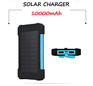 SUNWALK 10000mAh Solar Panel Power Bank with Flashlight External Battery Portable Charger